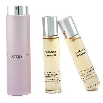 Chanel Chance, Toaletná voda 3x20ml Twist and Spray - s rozprašovačom