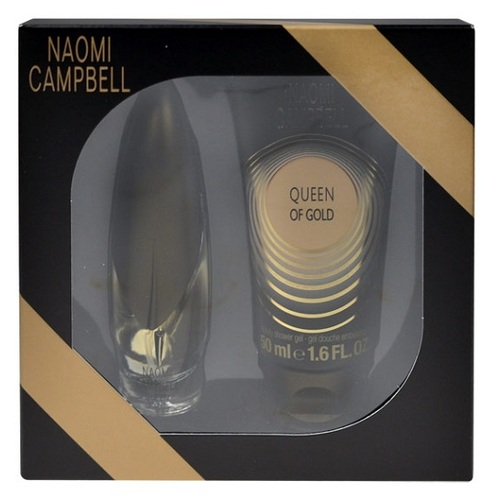 Naomi Campbell Queen of Gold, Edt 15ml + 50ml sprchový gel