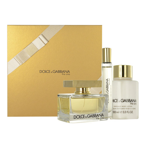 Dolce & Gabbana The One, Edp 75ml + 100ml tělové mléko + Edt 7,4ml