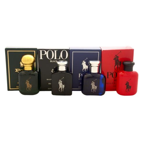 Ralph Lauren Mini SET: Polo Red 15ml edt + Polo Blue 15ml edt + Polo Black 15ml edt + Polo 15ml edt