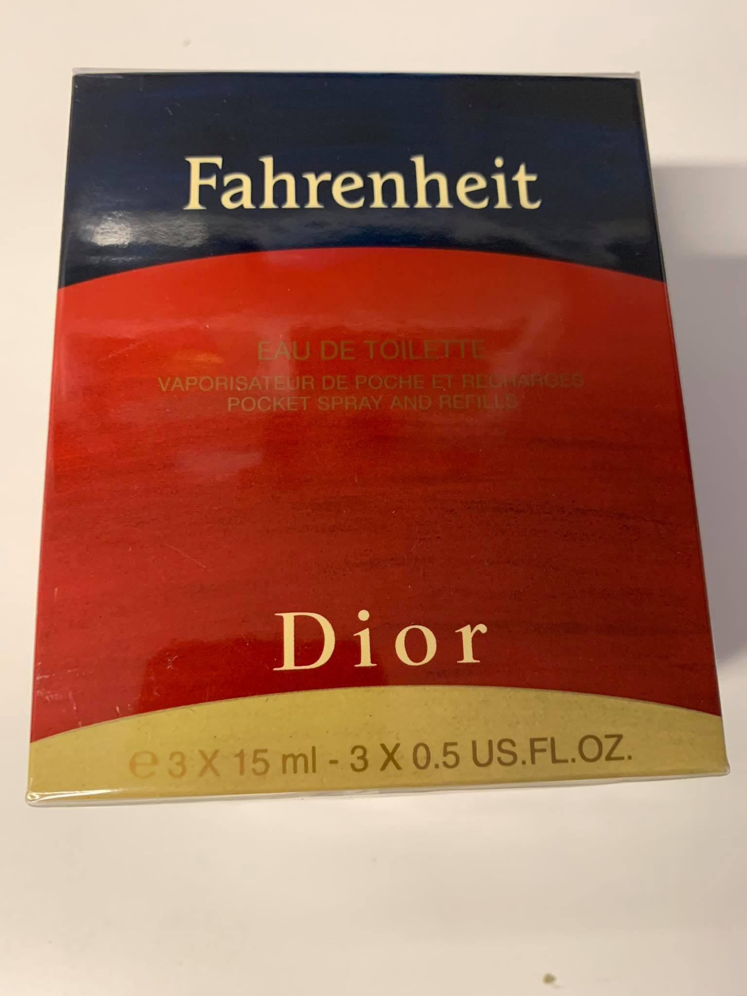 Christian Dior Fahrenheit, edt 3x15ml