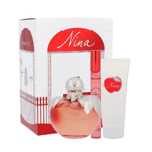 Nina Ricci Nina, Edt 80ml + 10ml Edt Golyós dezodor + 100ml Testápoló tej