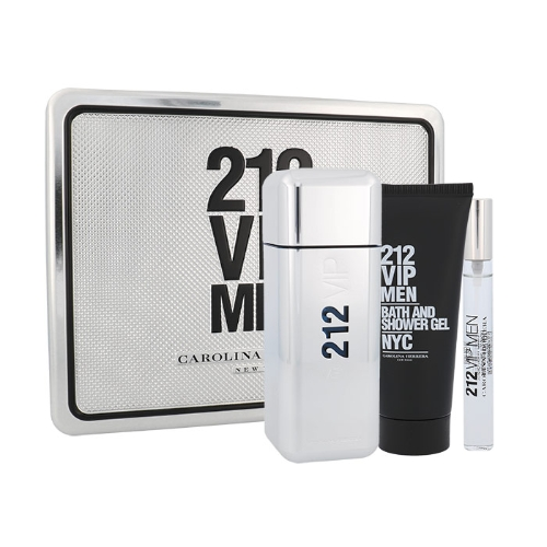 Carolina Herrera 212 VIP Men, Edt 100ml + 100ml sprchový gel + 10ml edt