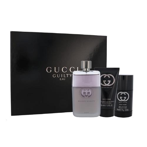 Gucci Gucci Guilty Eau Pour Homme, toaletní voda 90 ml + deostick 75 ml + sprchový gel 50 ml