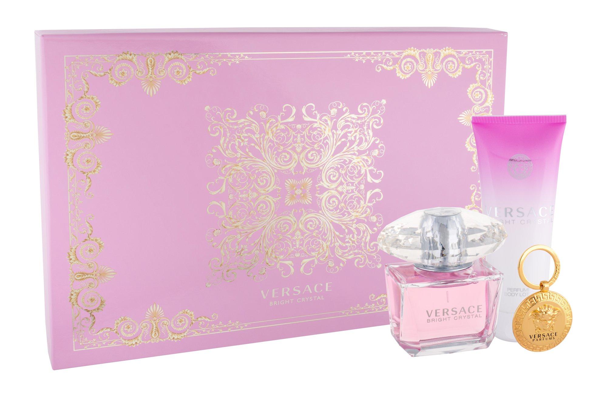 Versace Bright Crystal, edt 90 ml + Testápoló 100 ml + Kulcstartó