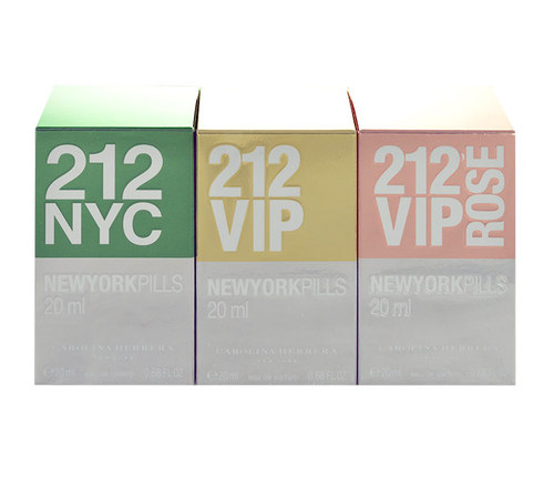 Carolina Herrera Giftset, 20ml Edt 212 + 20ml Edp 212 Vip + 20ml Edp 212 Vip Rose