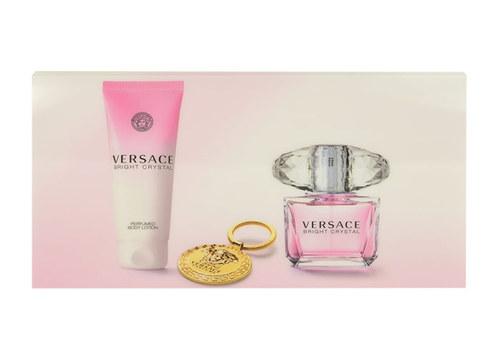 Versace Bright Crystal, Edt 90 + 100ml tělové mléko + klíčenka