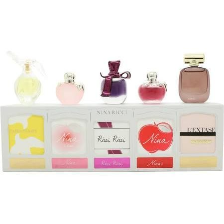 Nina Ricci Mini SET: L´Air du Temps 4ml EDT + Nina L´eau Fraiche 4ml EDT + Ricci Ricci 4ml EDT + Nina 4ml EDT + L´Extase 4ml EDP