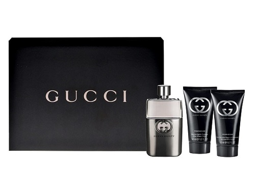 Gucci Guilty Pour Homme, Edt 90ml + 75ml balzám po holení + 50ml sprchový gel
