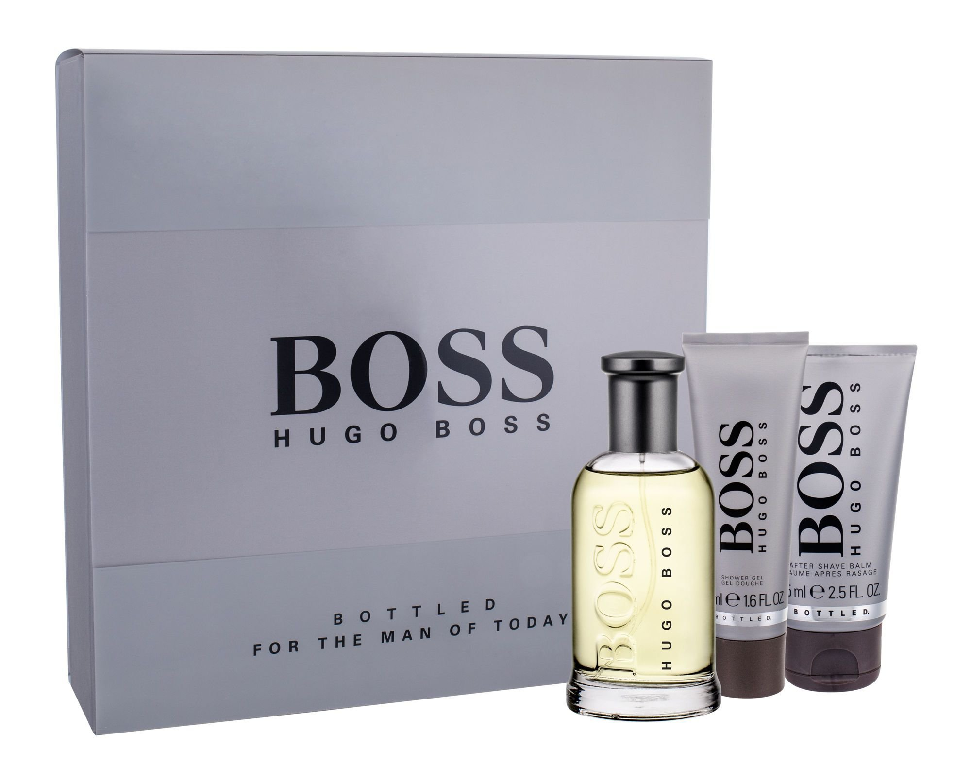 HUGO BOSS Boss Bottled, edt 100 ml + After shave balm 75 ml + tusfürdő gél 50 ml