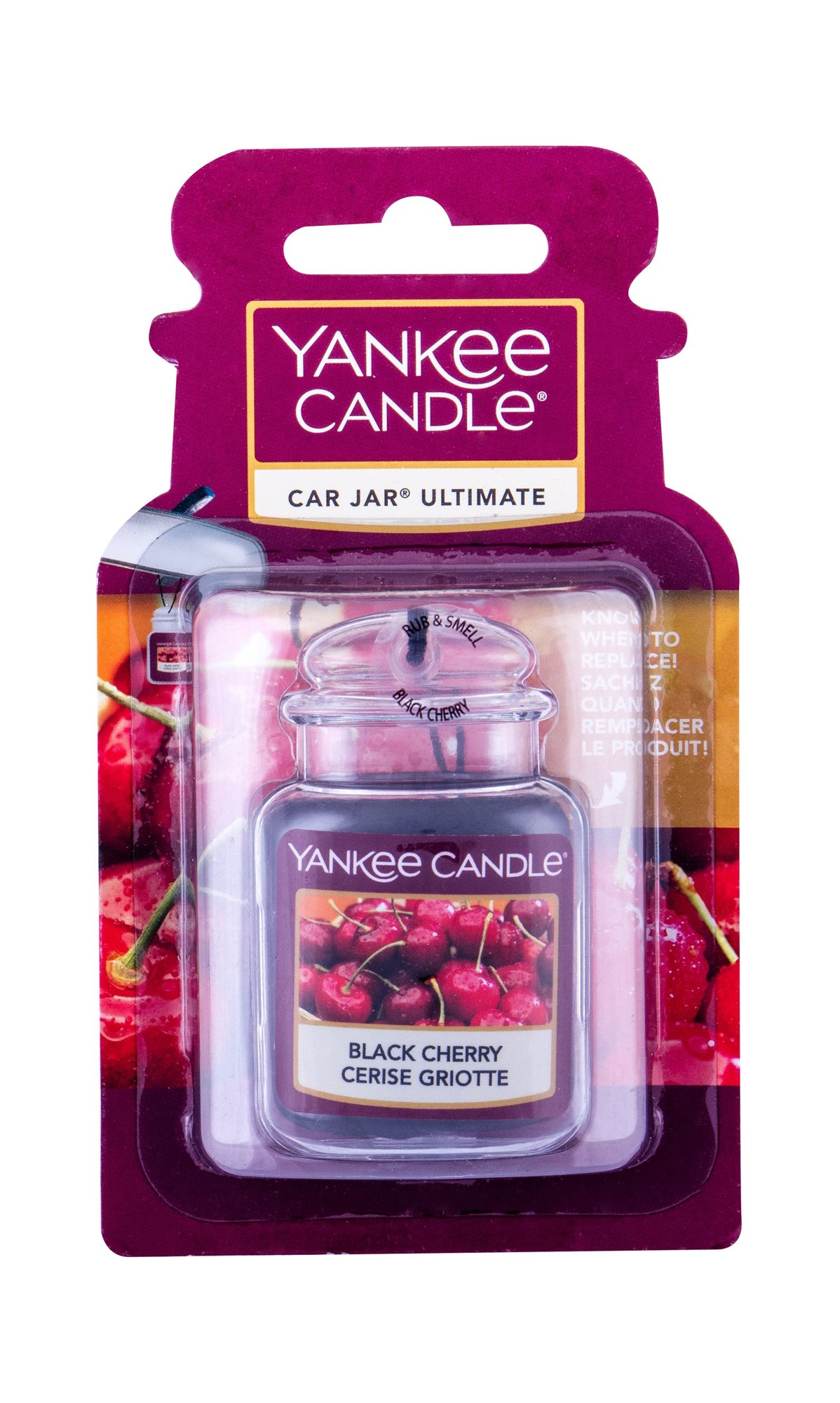 Yankee Candle Black Cherry Car Jar, Vôňa do auta 1ks