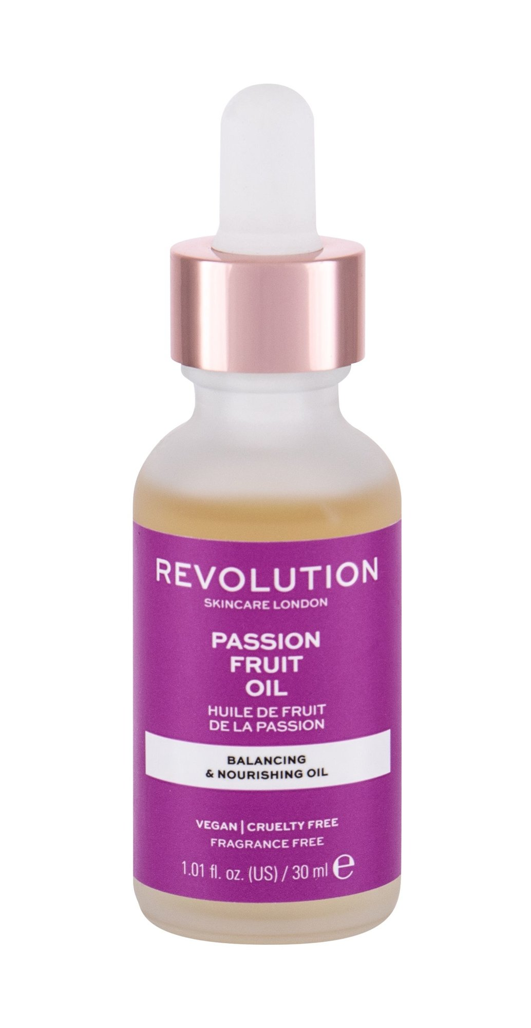 Makeup Revolution London Skincare Passion Fruit Oil, arcápoló szérum 30ml