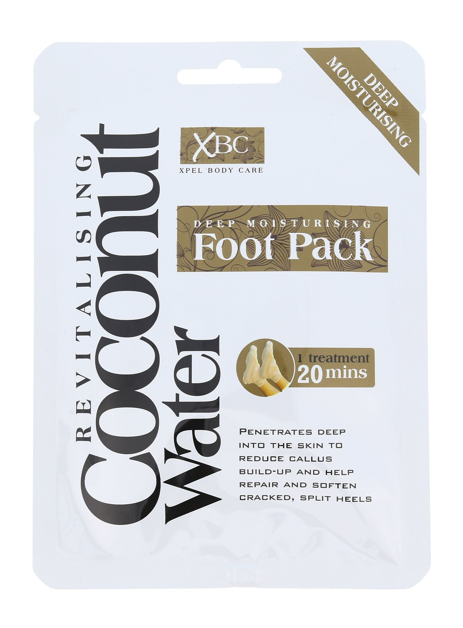 Xpel Coconut Water Deep Moisturising Foot Pack, Lábcream 1ks