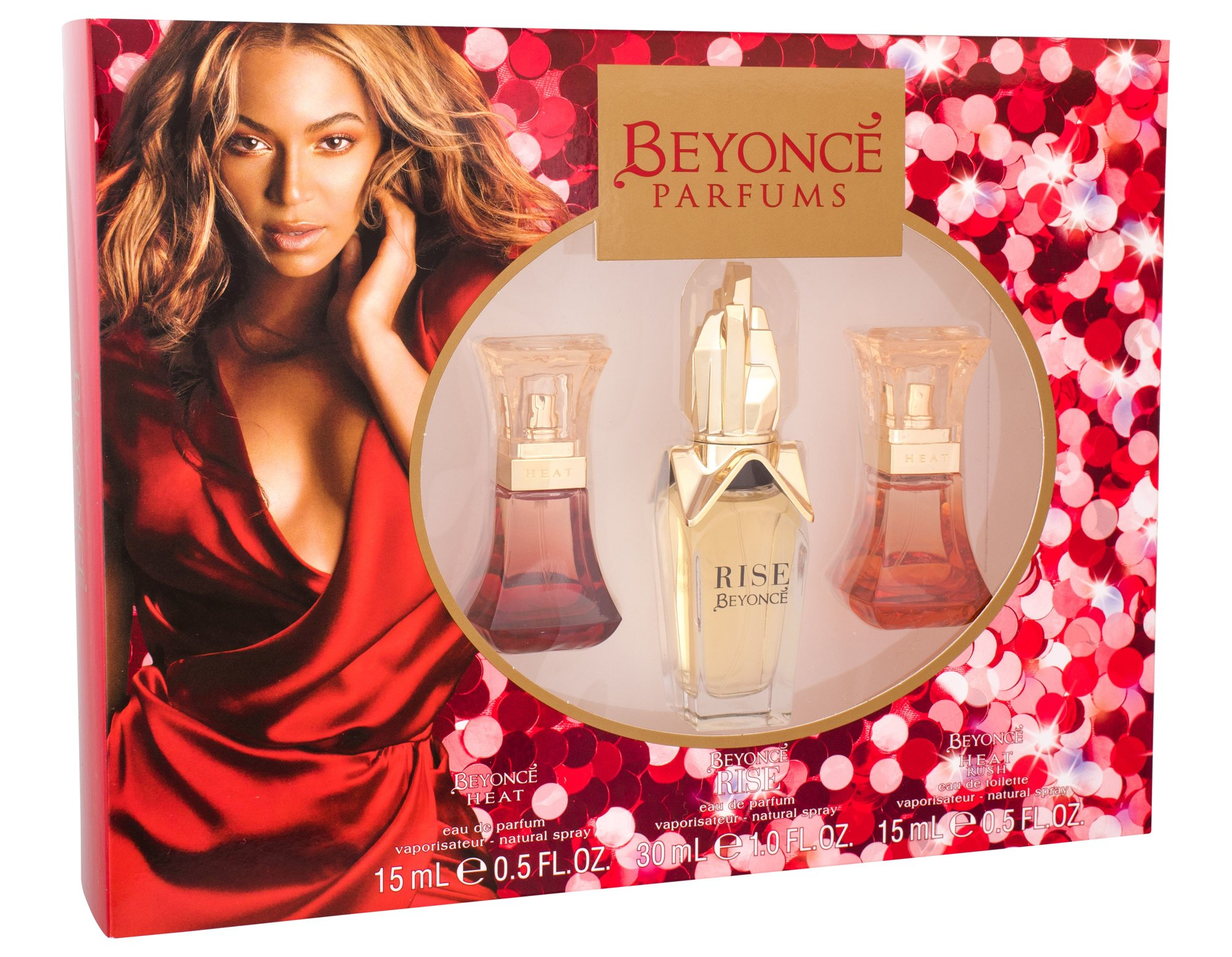Beyonce Rise, parfumovaná voda 30 ml + parfumovaná voda Heat 15 ml + parfumovaná voda Heat Rush 15 ml