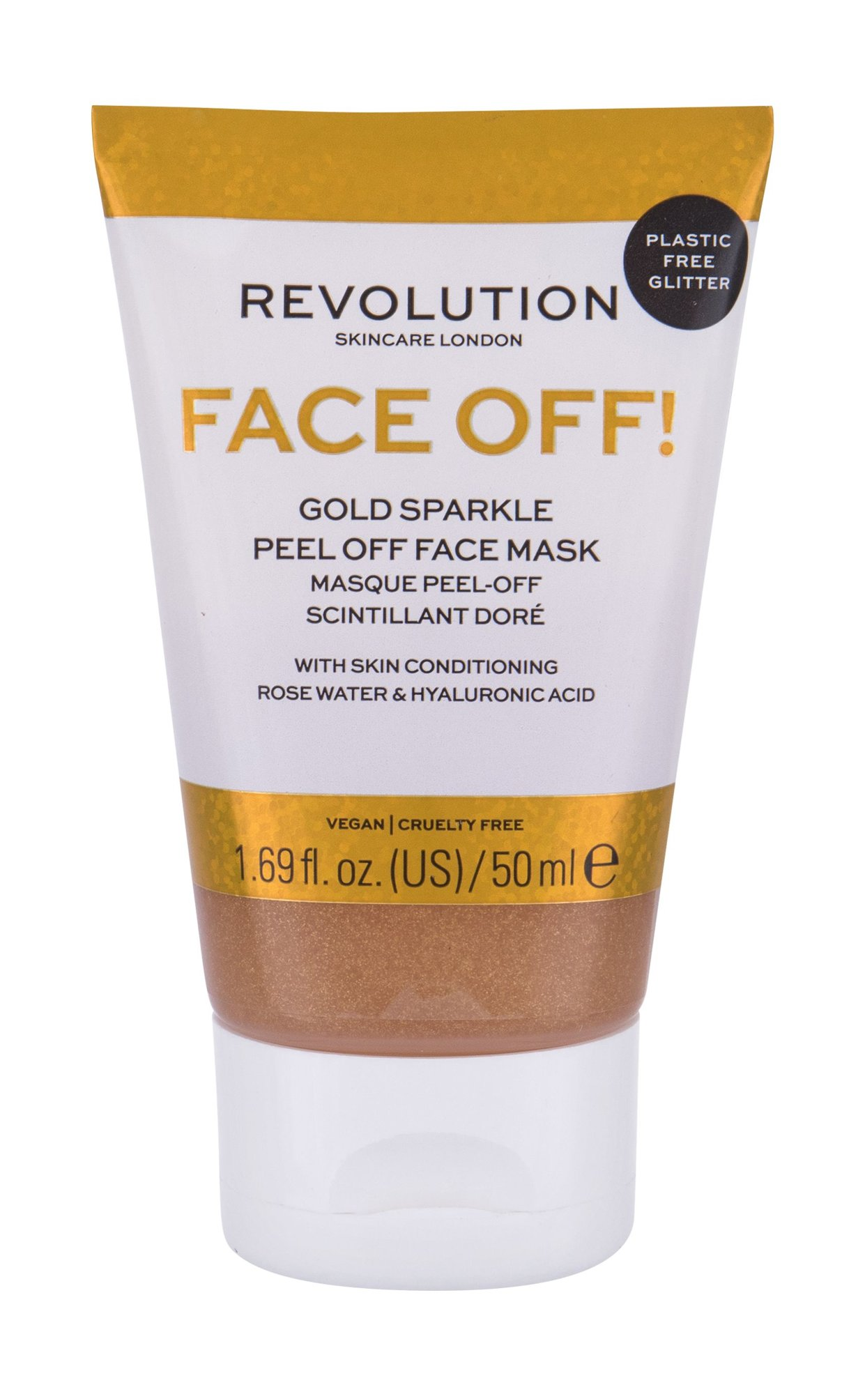 Revolution Skincare Face Off! Gold Sparkle, Pleťová Maszk 50ml