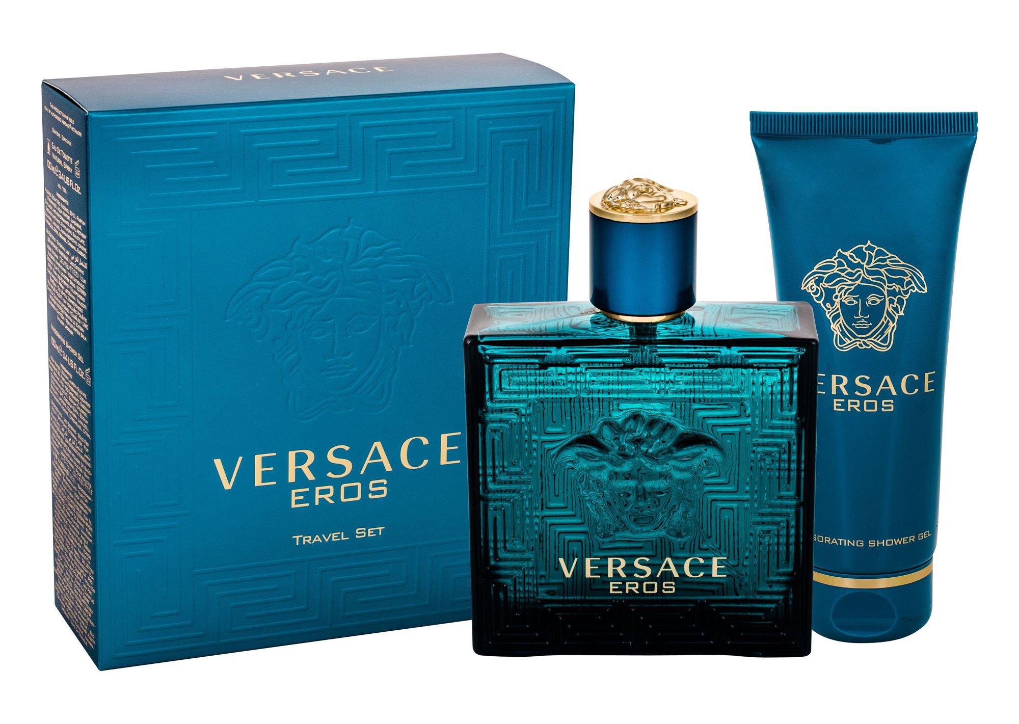 Versace Eros, toaletná voda 100ml + sprchovací gél 100 ml