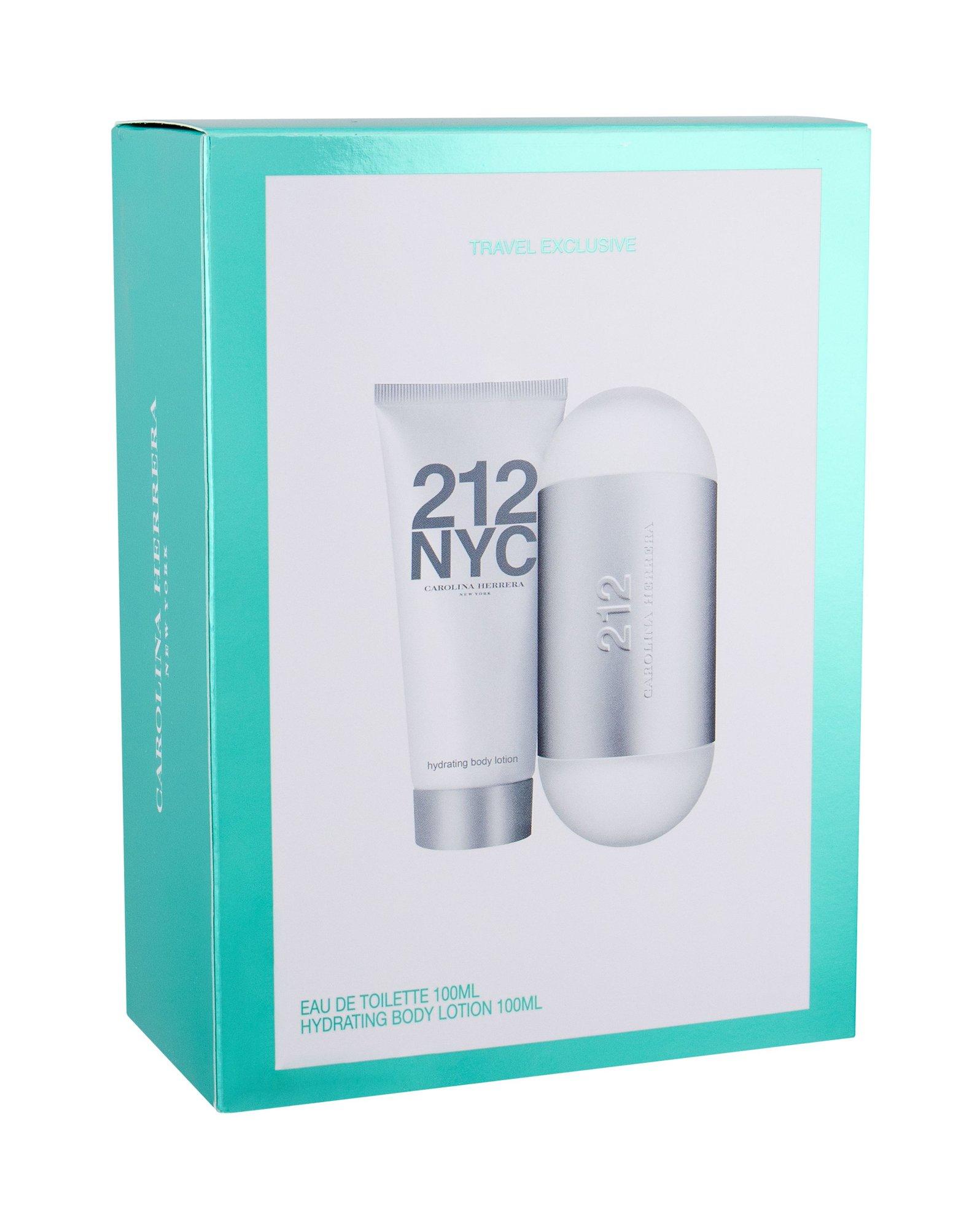 Carolina Herrera 212 NYC, toaletná voda 100 ml + telové mlieko 100 ml