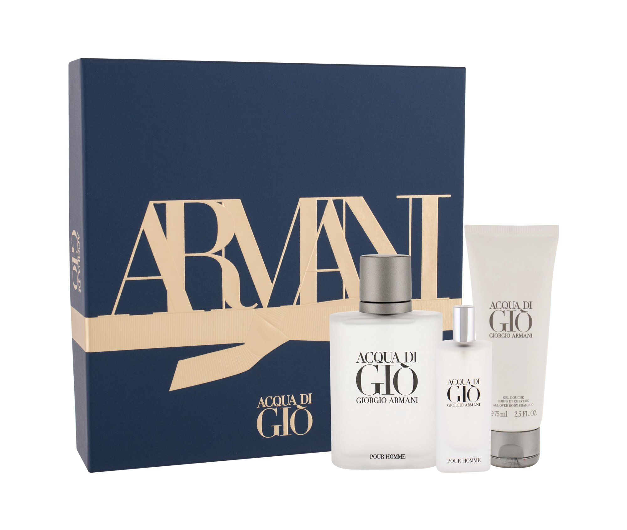 Giorgio Armani Acqua di Gio Pour Homme, Toaletní voda 100 ml + Toaletní voda 15 ml + sprchovací gél 75 ml