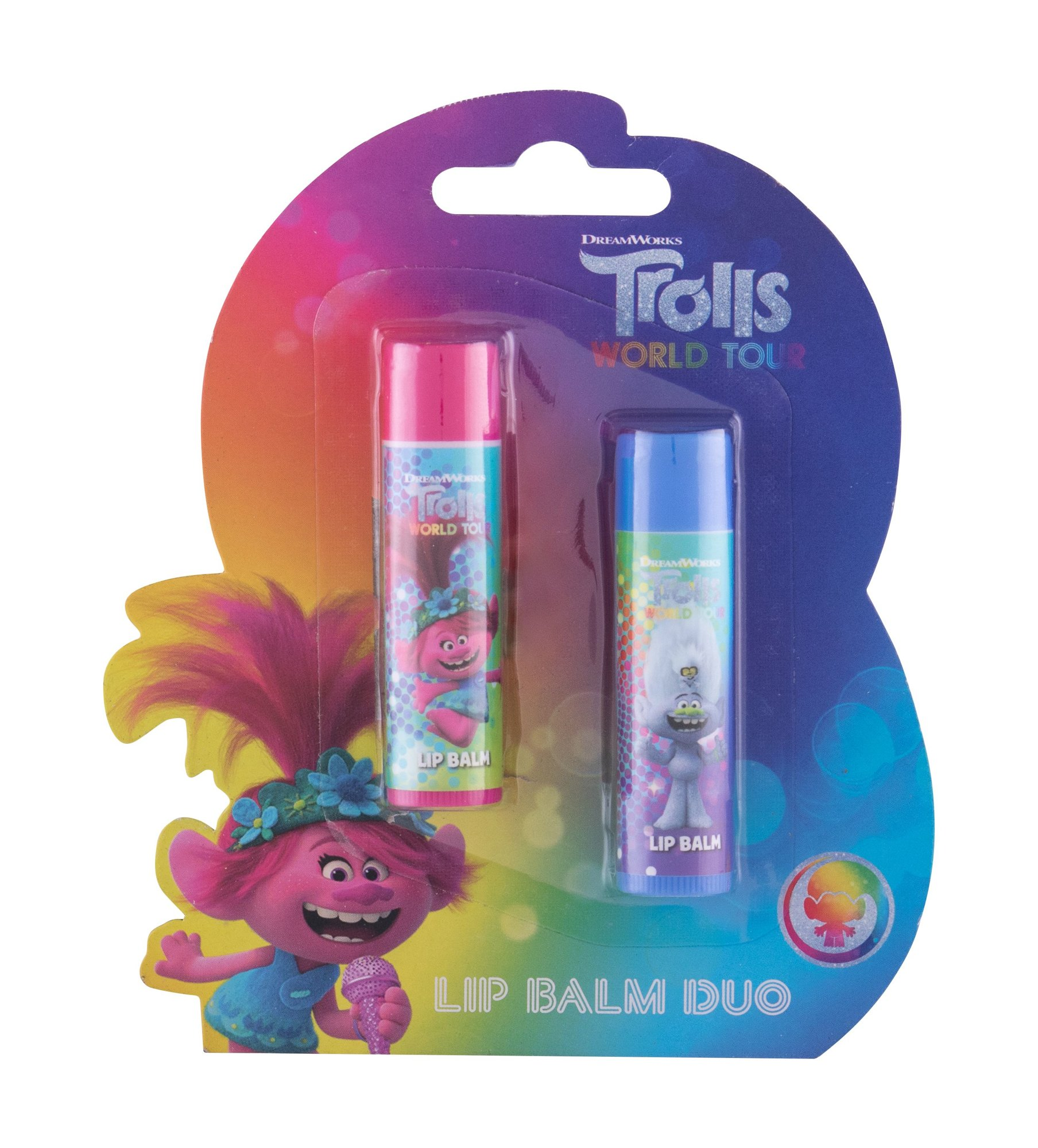 DreamWorks Trolls, Ajakbalzsam 4,2 g Cherry + Ajakbalzsam 4,2 g Lemon - Duo Kit