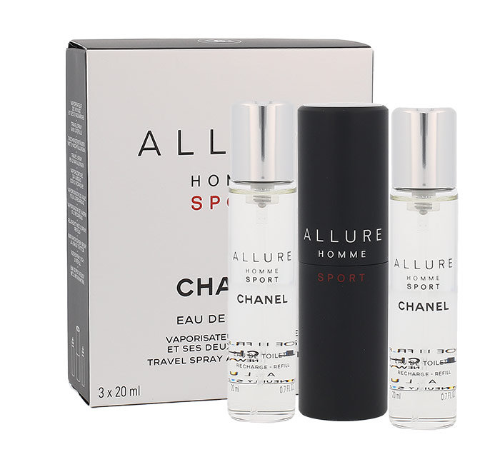 Chanel Allure Homme Sport, Toaletná voda 20ml, 3x 20 ml, Twist and Spray