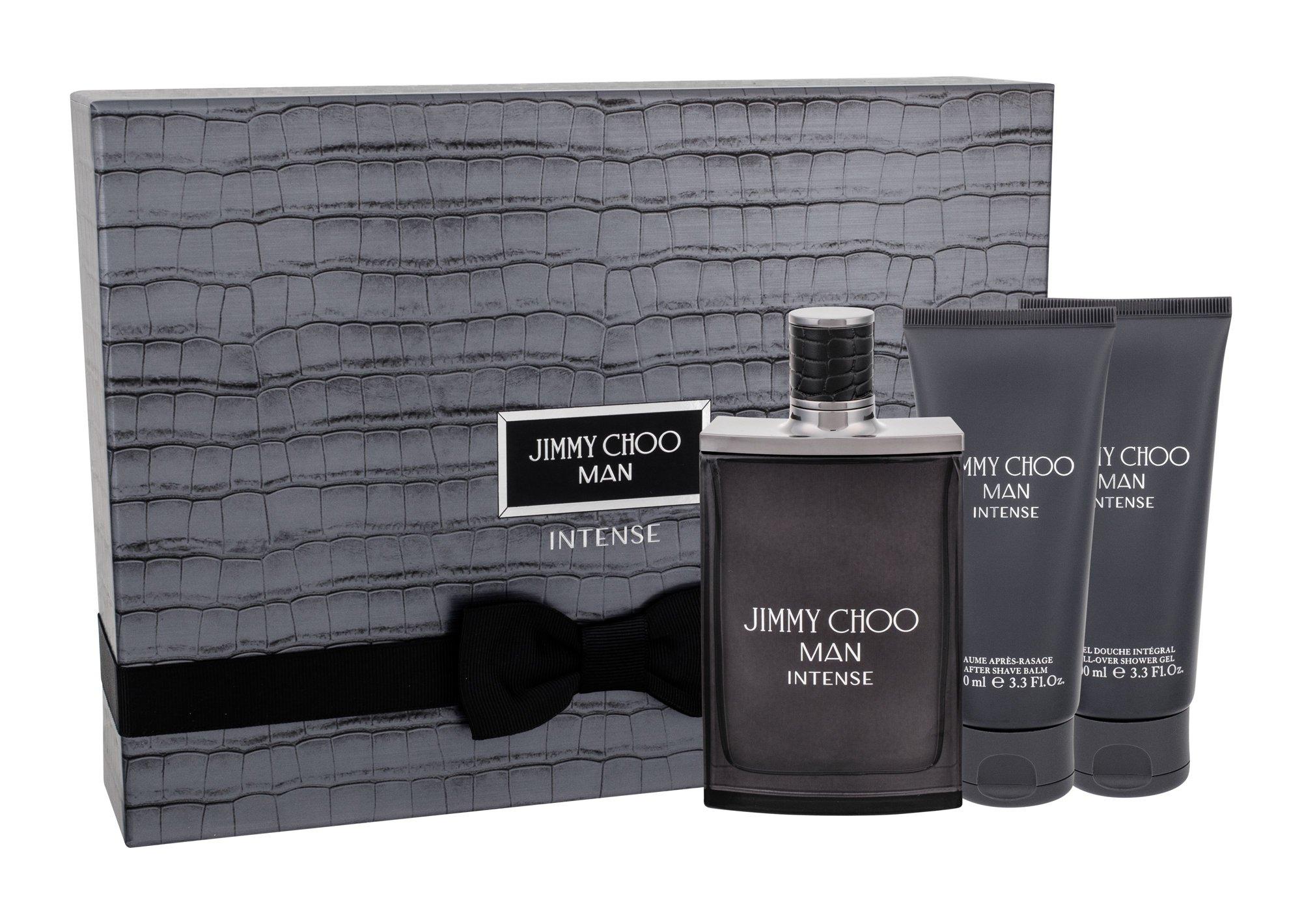 Jimmy Choo Jimmy Choo Man Intense, toaletná voda 100 ml + sprchovací gél 100 ml + balzám po holení 100 ml