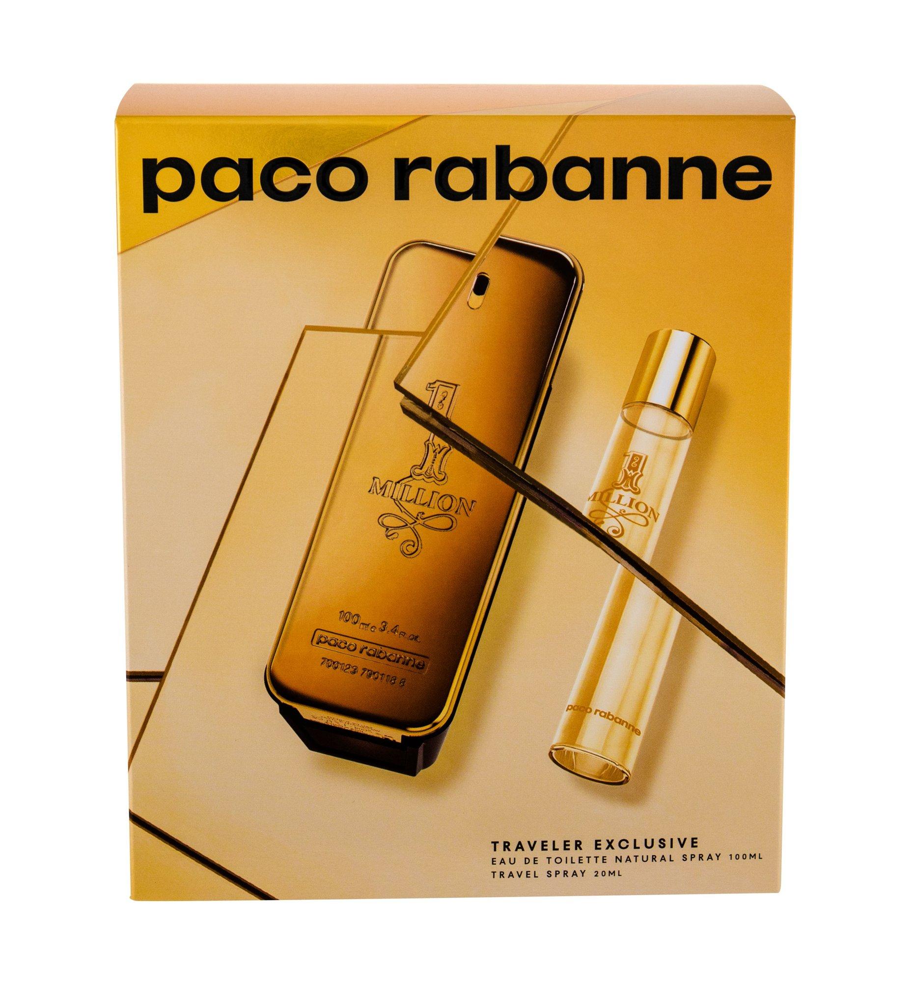 Paco Rabanne 1 Million, Toaletní voda 100 ml + Toaletní voda 20 ml