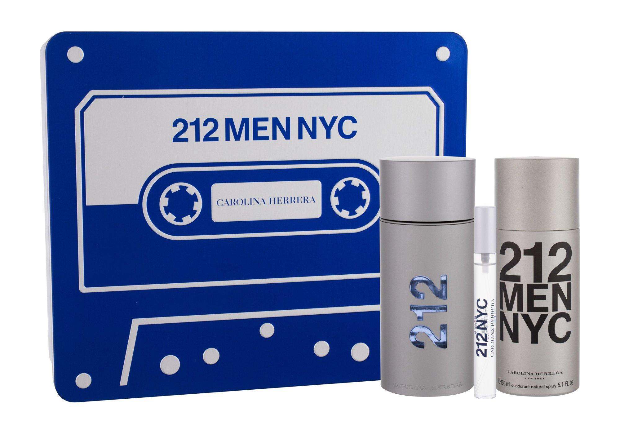 Carolina Herrera 212 NYC Men, edt 100 ml + Dezodor 150 ml + edt 10 ml
