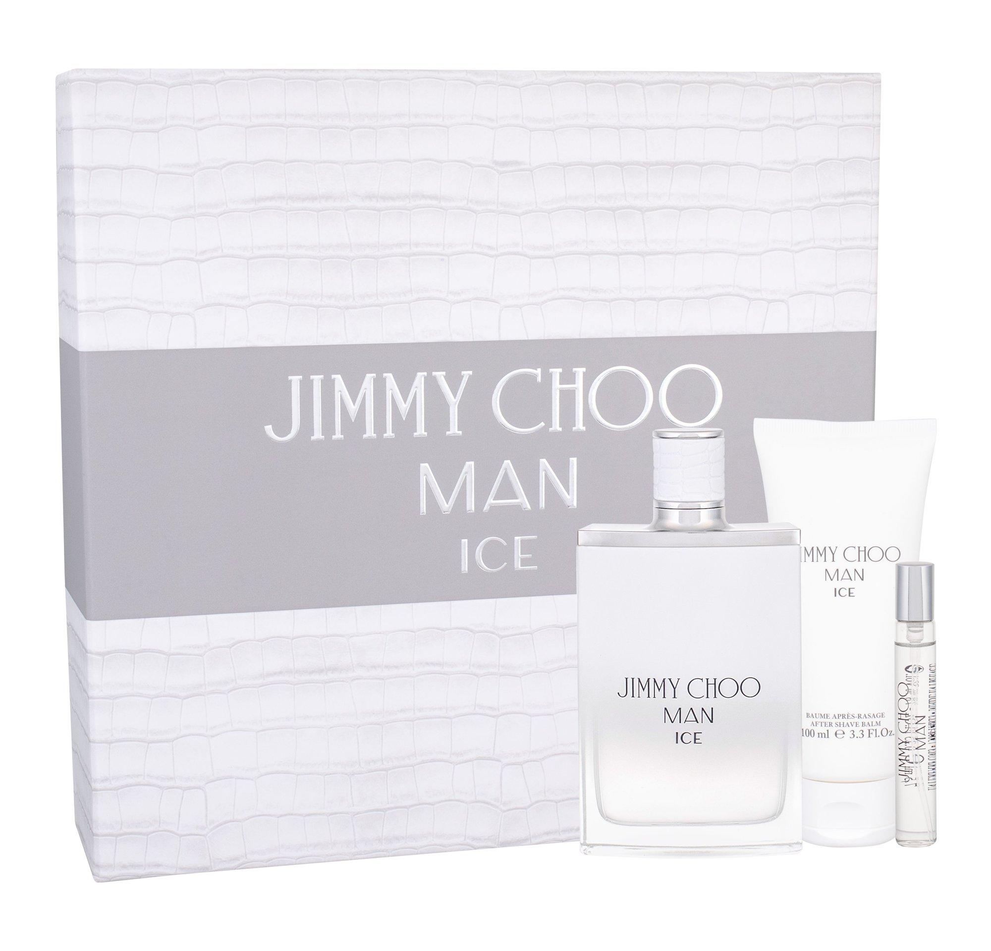 Jimmy Choo Jimmy Choo Man Ice, toaletná voda 100 ml + balzam po holení 100 ml + toaletná voda 7,5 ml