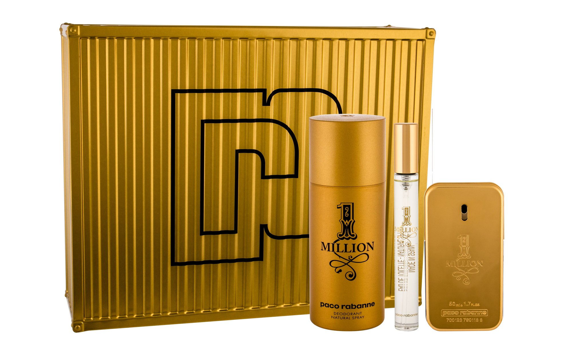 Paco Rabanne 1 Million, edt 100 ml + Dezodor 150 ml + edt 10 ml
