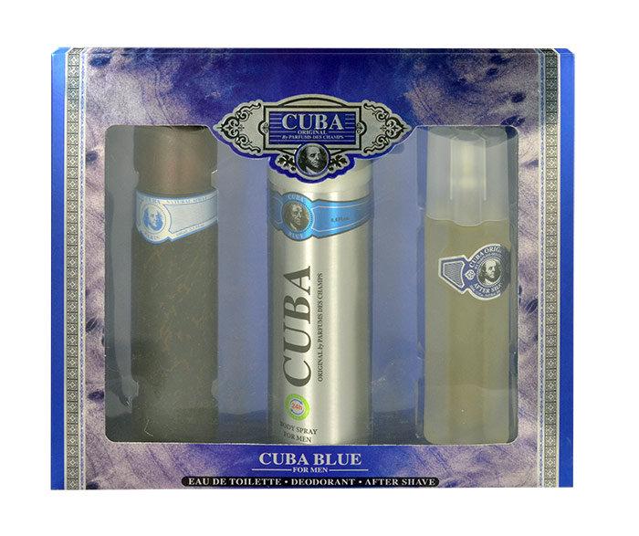 Cuba Blue, Toaletní voda 100 ml + Deodorant 200 m l+ Voda po holení 100 ml