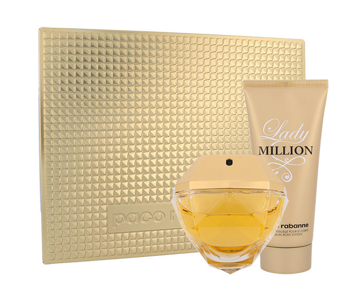 Paco Rabanne Lady Million, parfumovaná voda 80 ml + telové mlieko 100 ml