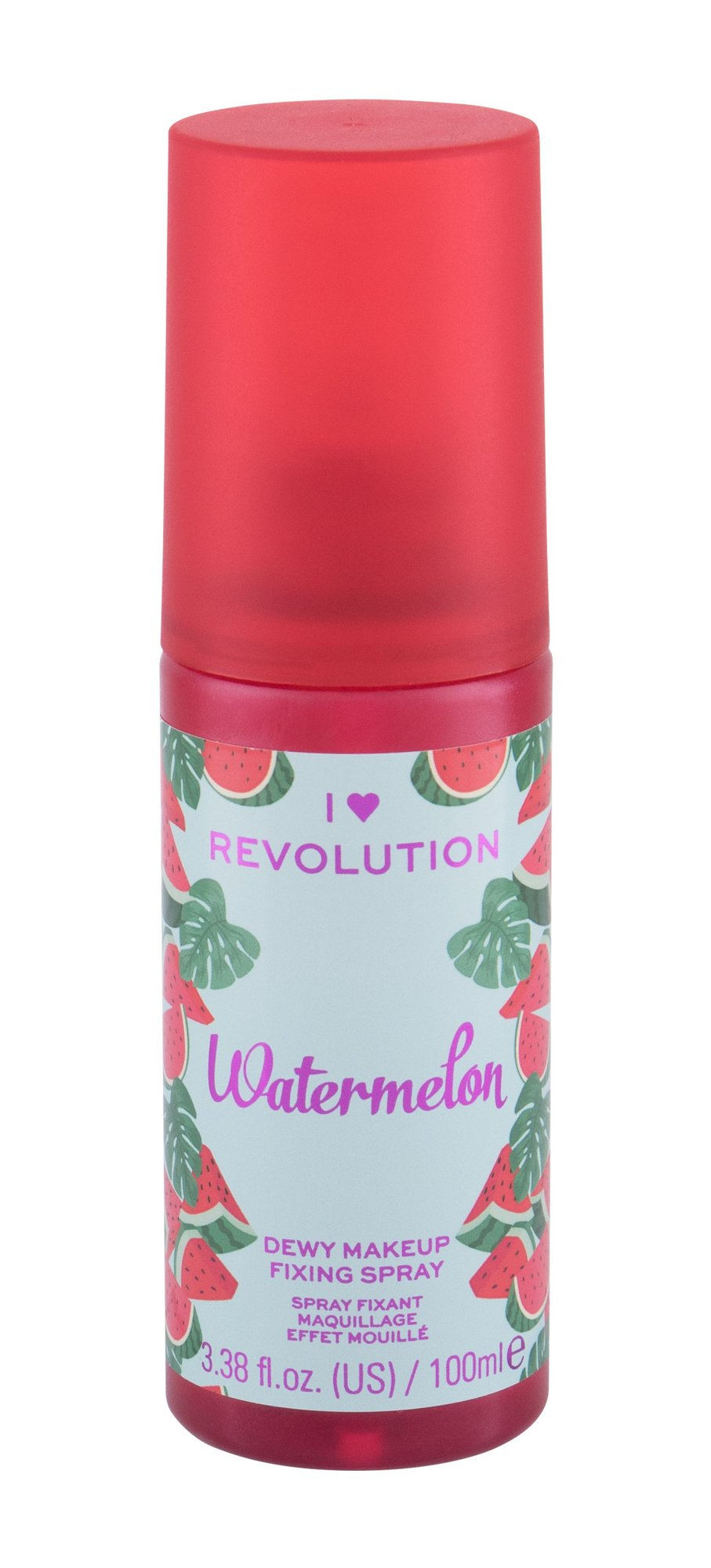 Makeup Revolution London I Heart Revolution Fixing Spray, Fixátor Alapozóu 100ml - Watermelon