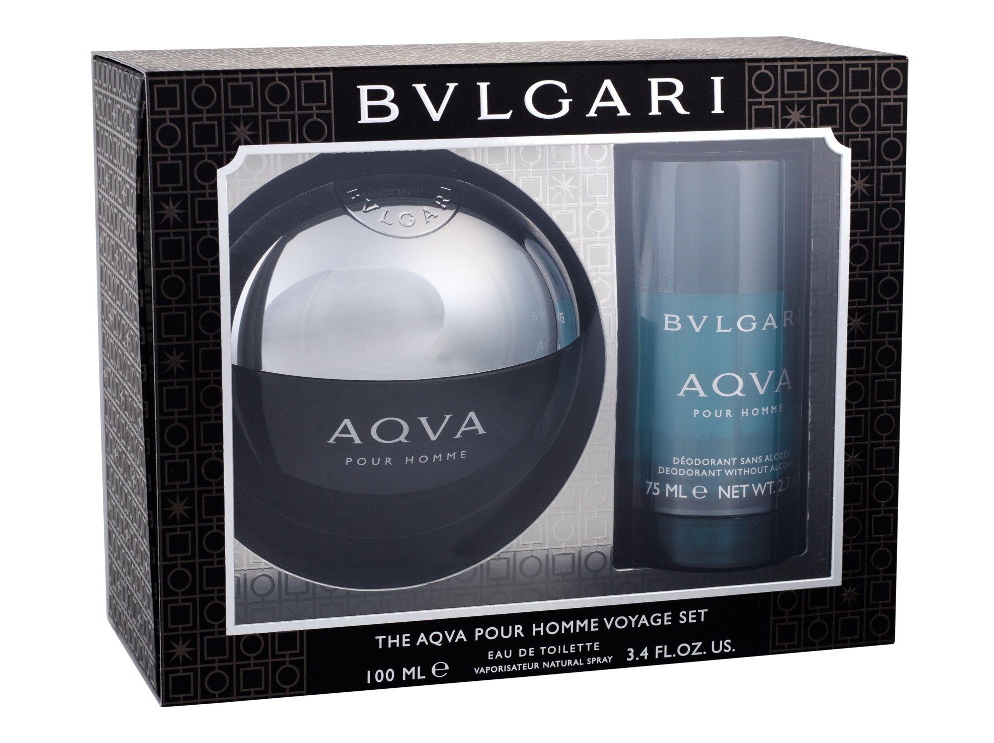 Bvlgari Aqva Pour Homme, toaletná voda 100 ml + deostick 75 ml
