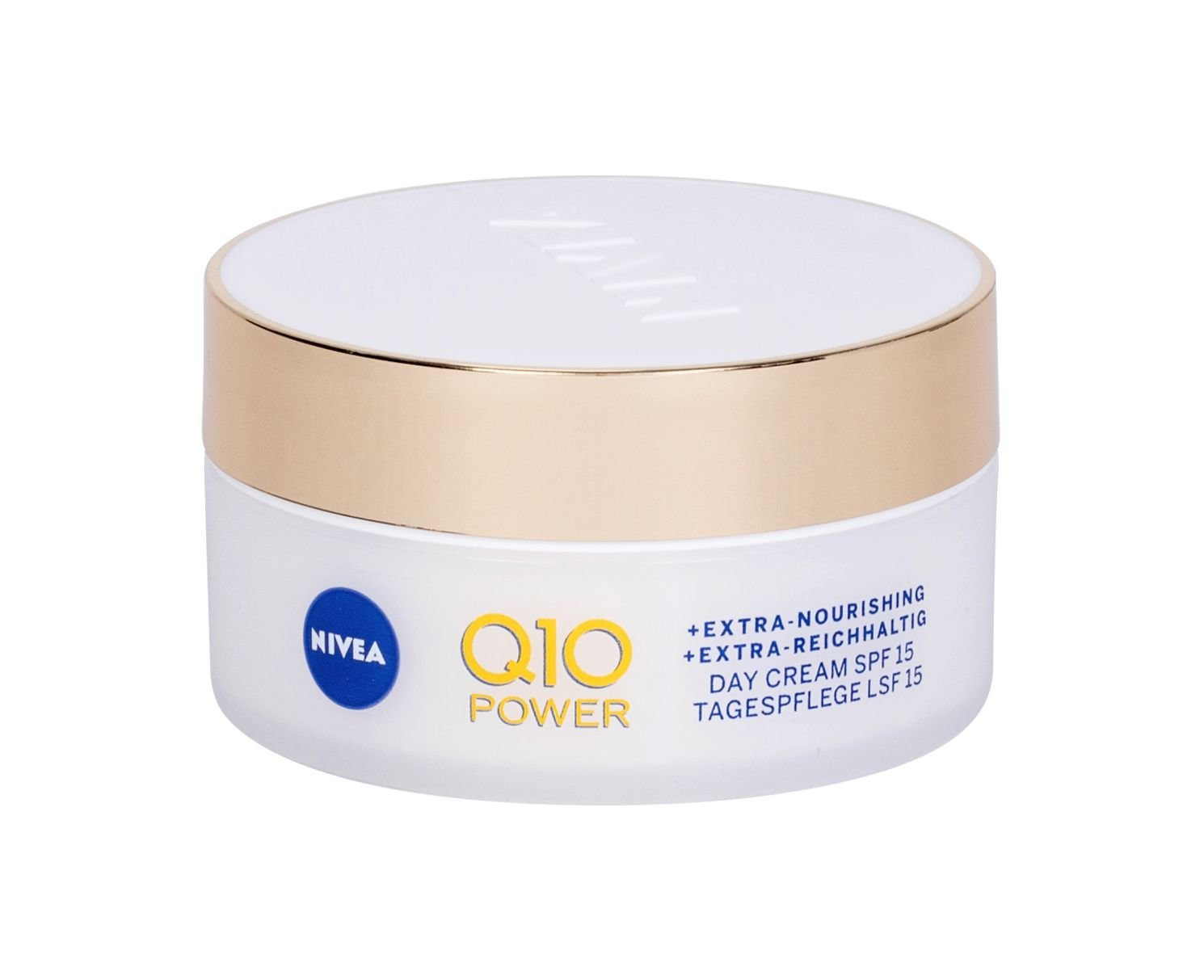 Nivea Q10 Power Anti-Wrinkle + Extra Nourishing, Denný arcápoló cream 50ml - SPF15