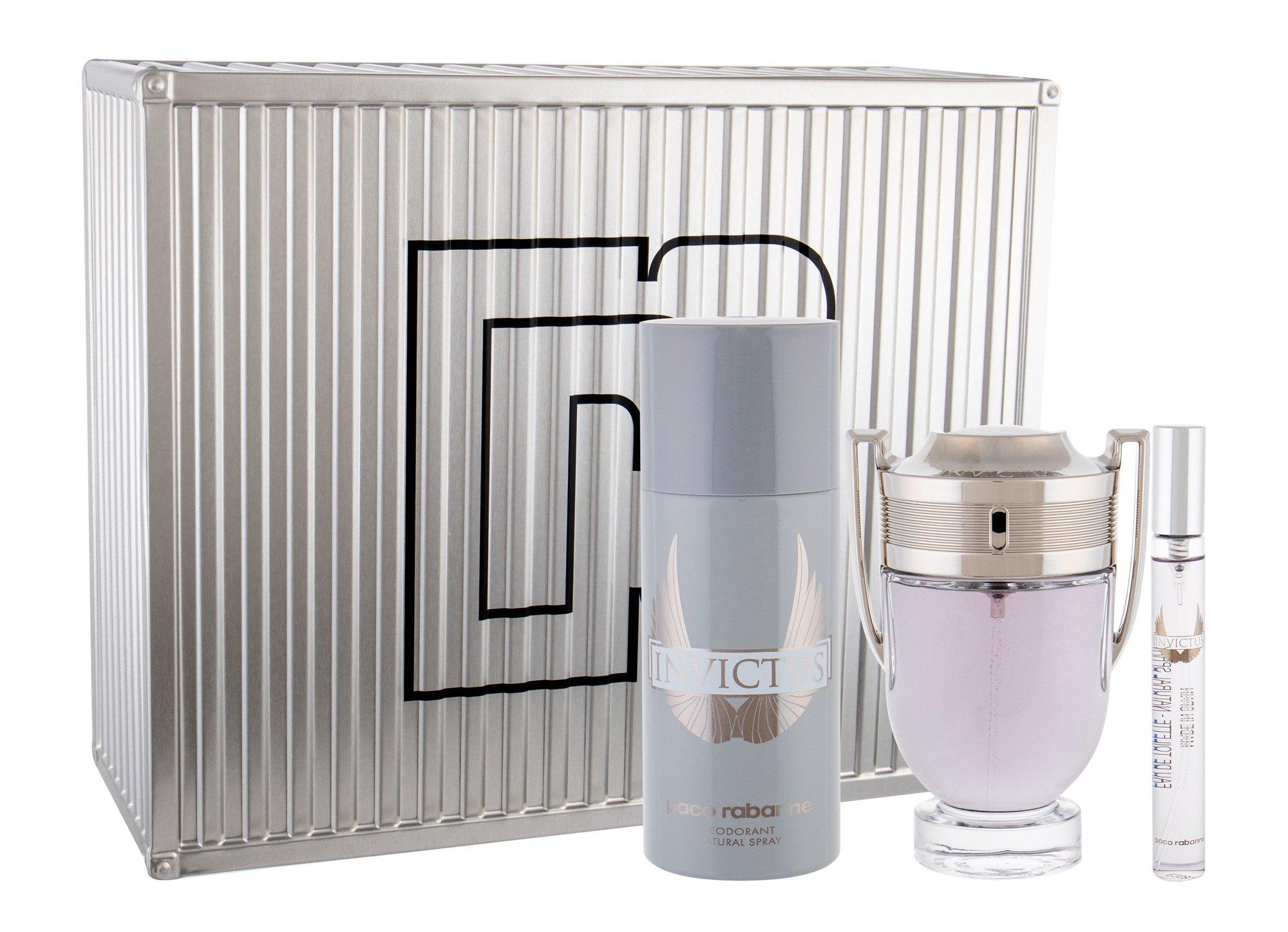 Paco Rabanne Invictus, toaletná voda 100 ml + dezodorant 150 ml + toaletná voda 10 ml