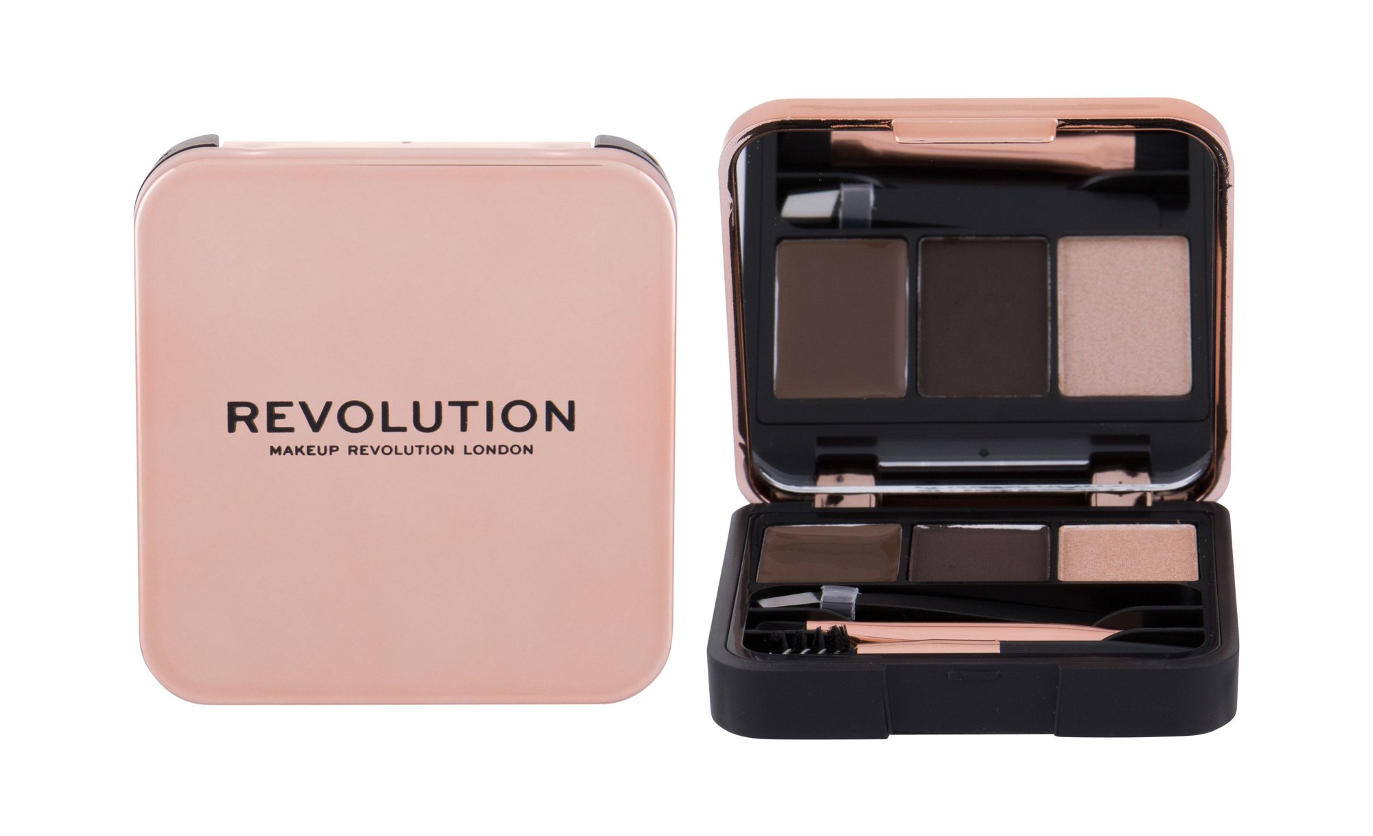 Makeup Revolution London Brow Sculpt Kit, Set a paletka na obočie 2,2g