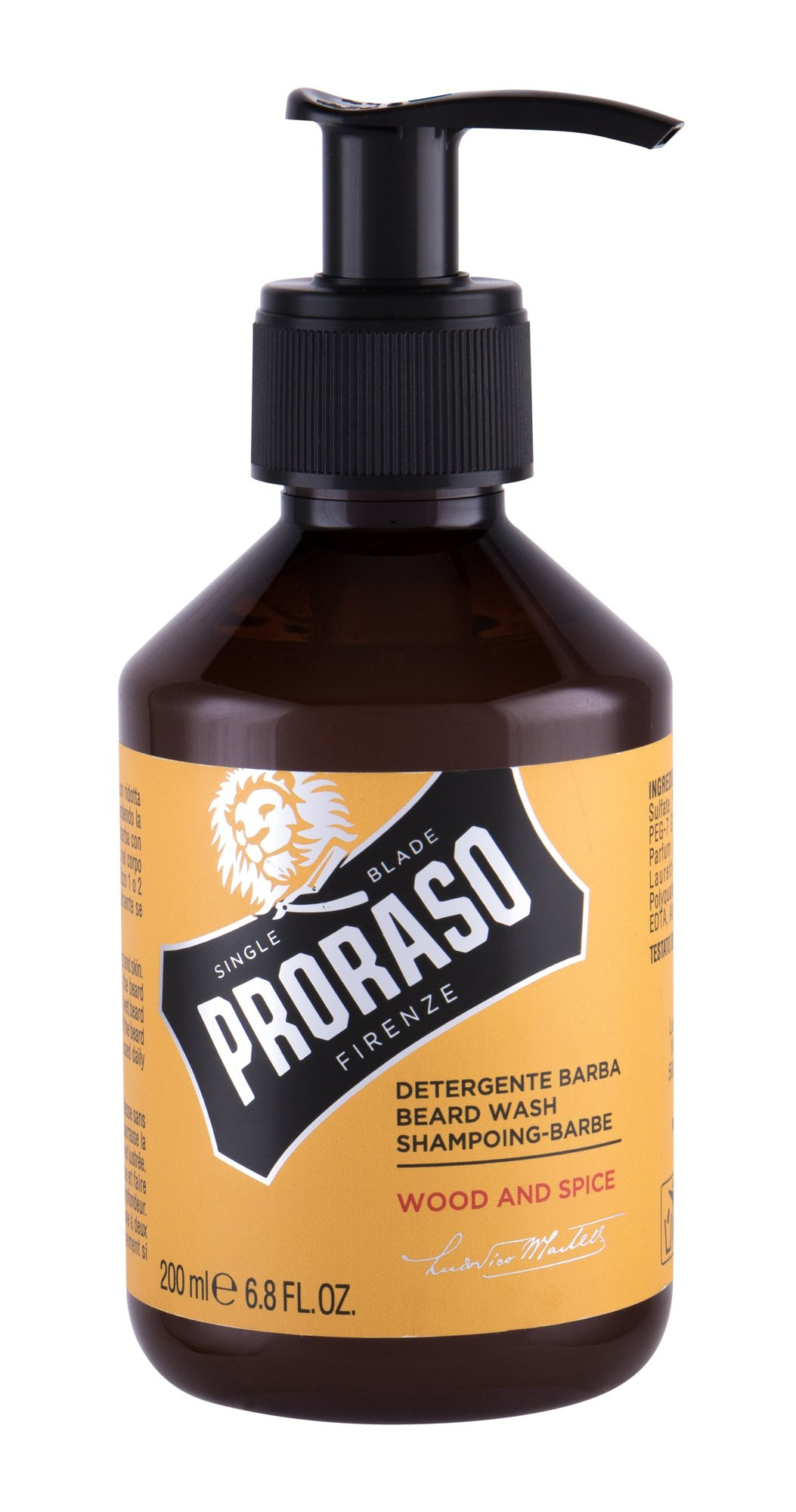 PRORASO Wood & Spice Beard Wash, Sampon 200ml
