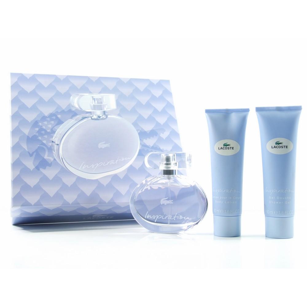 Lacoste Inspiration SET: Parfémovaná voda 50ml + Telové mlieko 50ml + Sprchovací gél 50ml