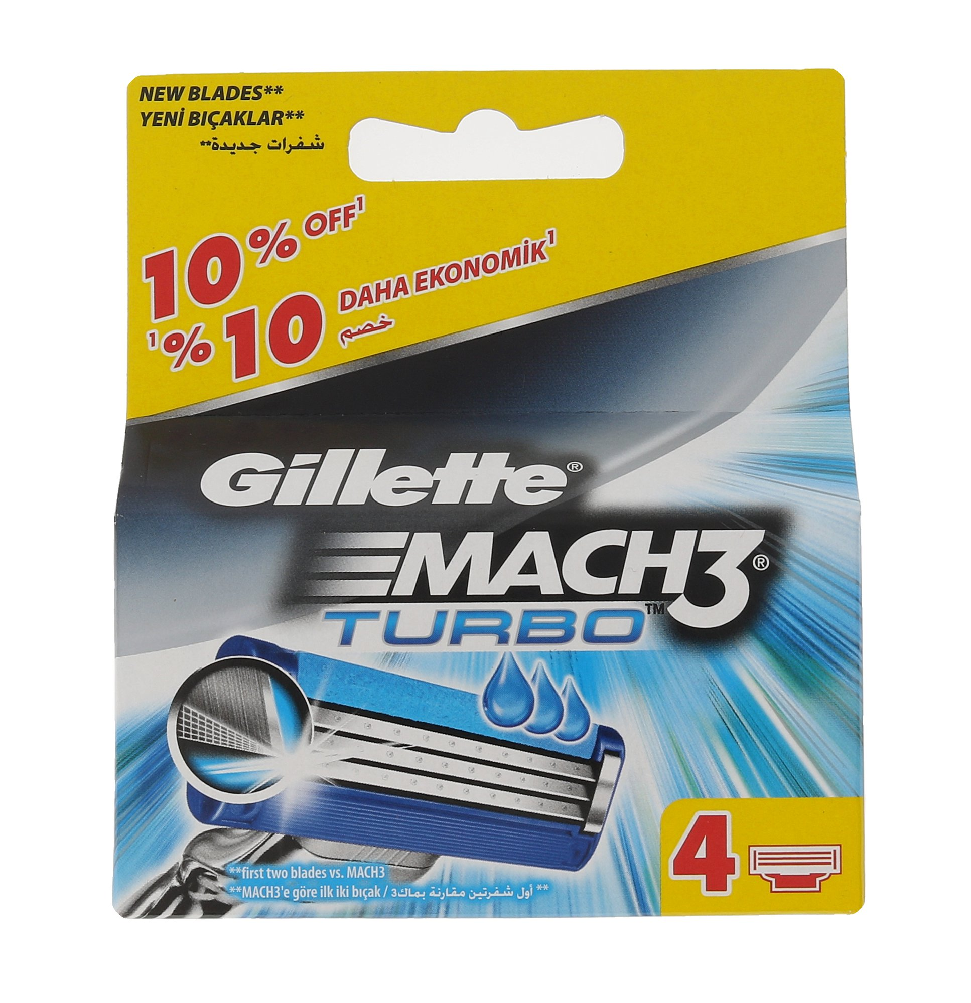 Gillette Mach3 Turbo, Náhradné ostrie 4ks
