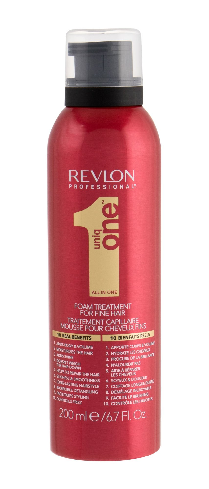 Revlon Professional Uniq One Foam Treatment, Objem vlasov 200ml
