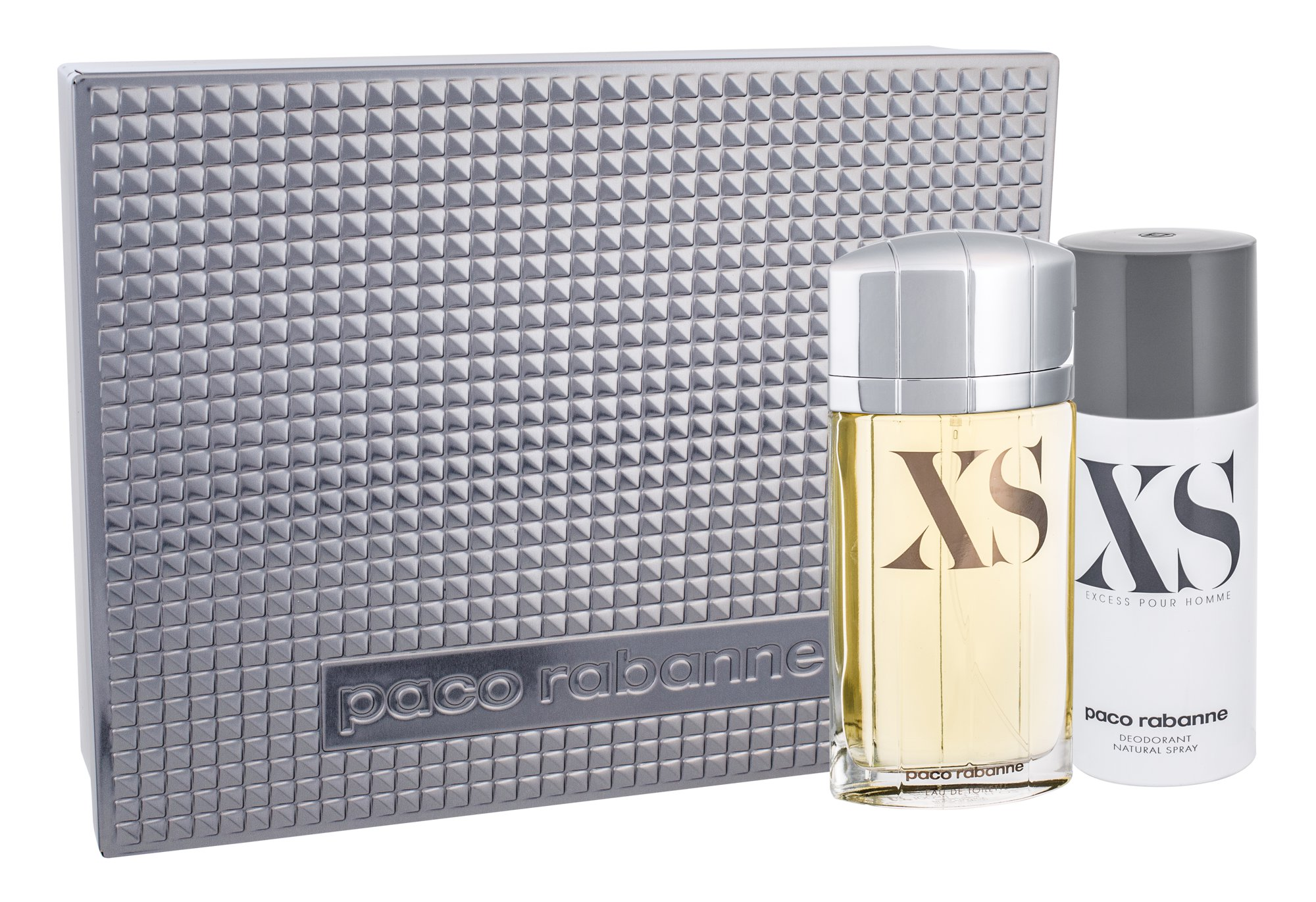 Paco Rabanne XS Pour Homme, Edt 100ml + 150ml deodorant