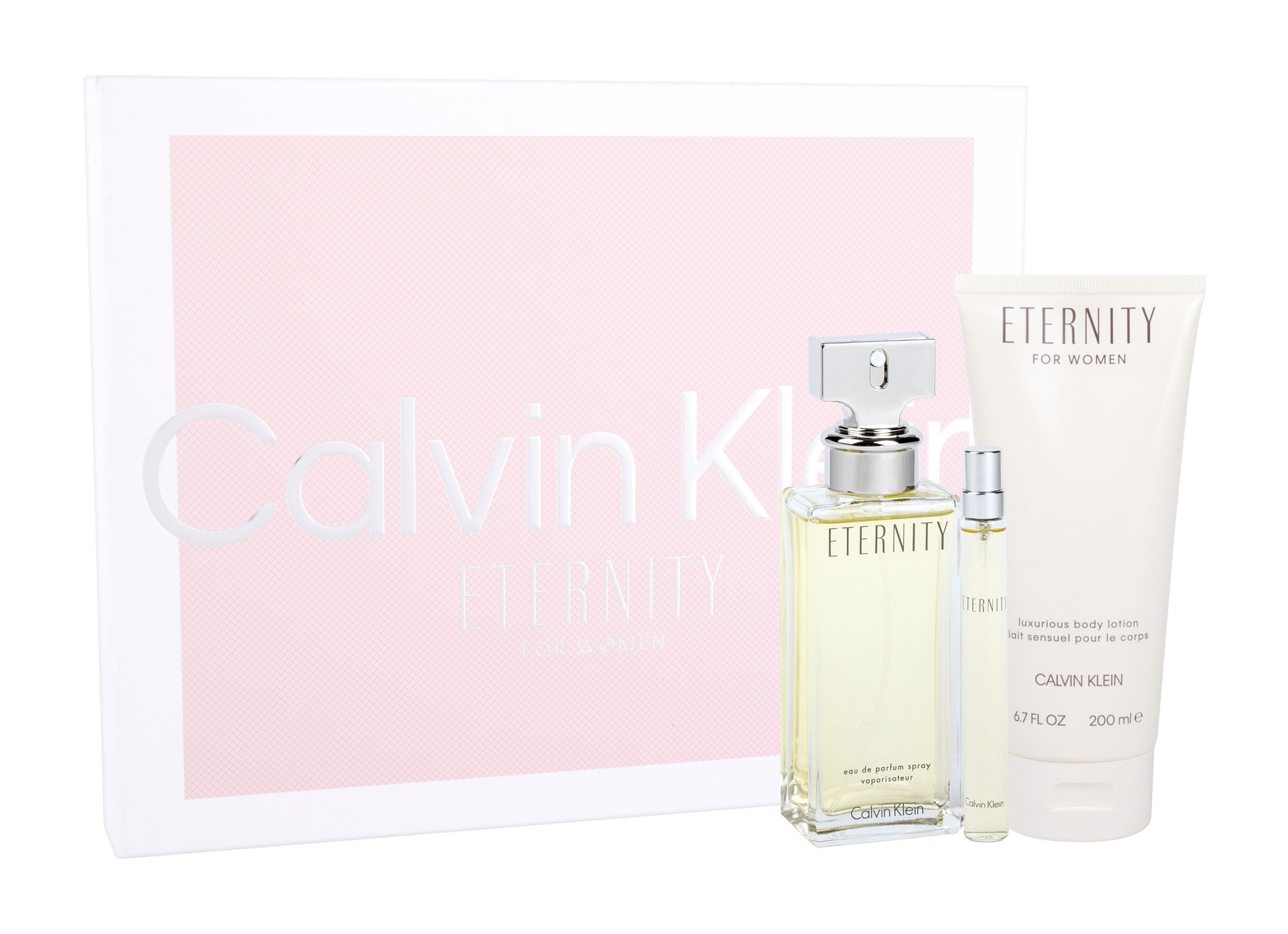 Calvin Klein Eternity, Edp 100ml + 200ml tělové mléko + 10ml miniatura