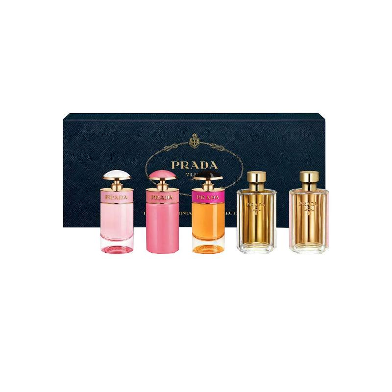Prada Mini SET: Candy Florale edt 7ml + Candy Gloss edt 7ml + Candy edp 7ml + La Femme edp 9ml + La Femme edt 9ml