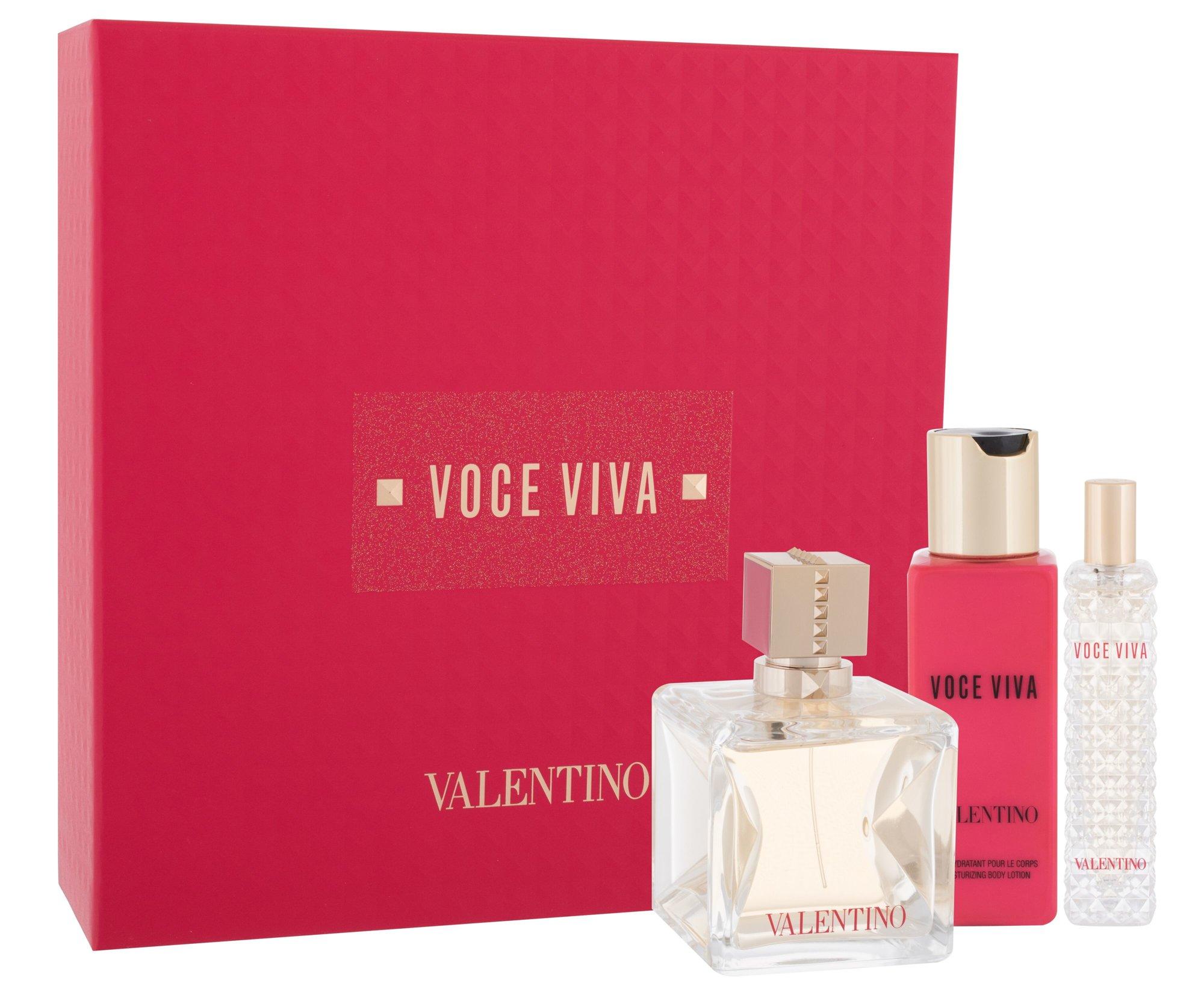 Valentino Voce Viva, parfumovaná voda 100 ml + parfumovaná voda 15 ml + telové mlieko 100 ml
