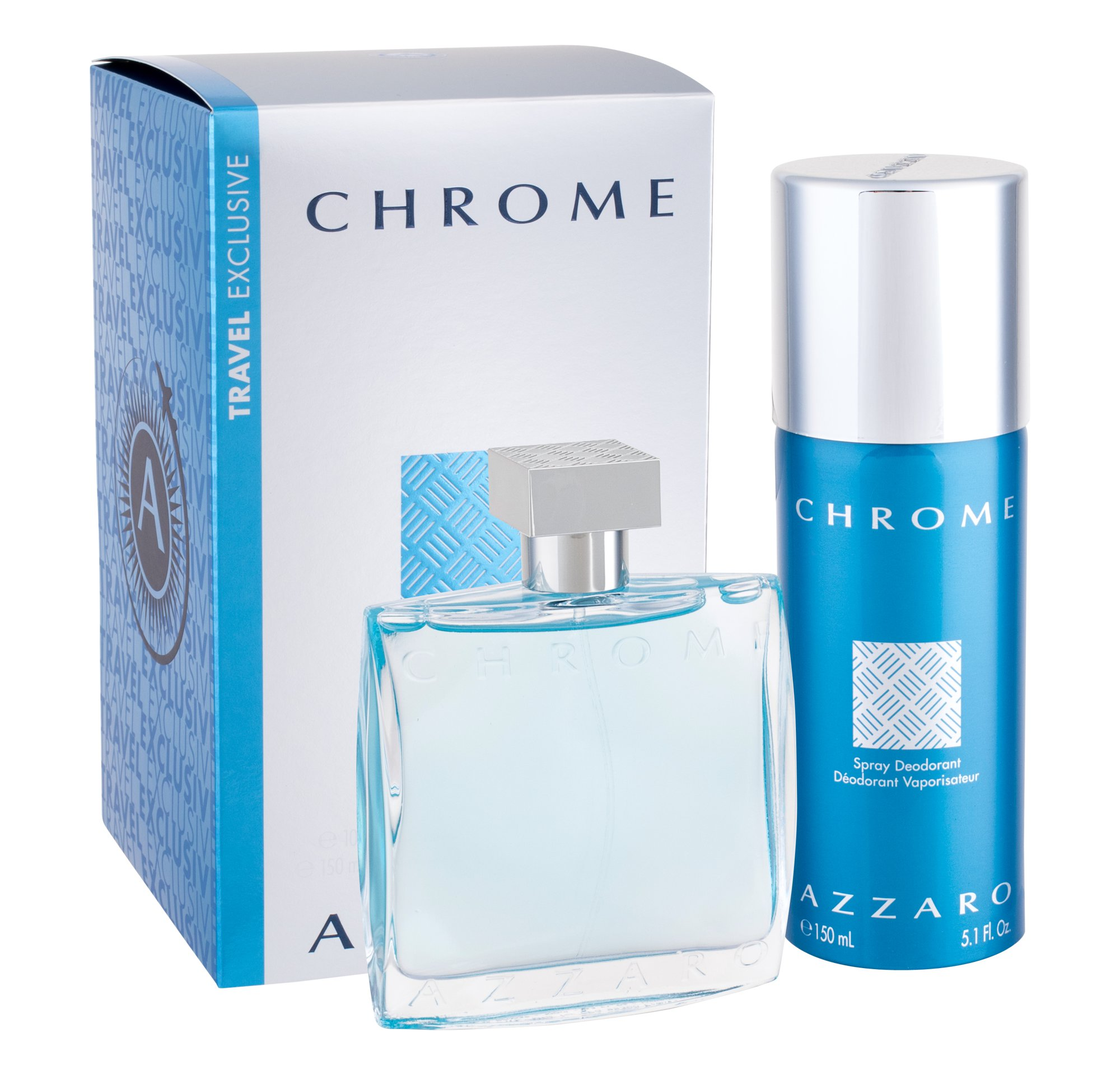 Azzaro Chrome, Edt 100ml + 150ml deodorant