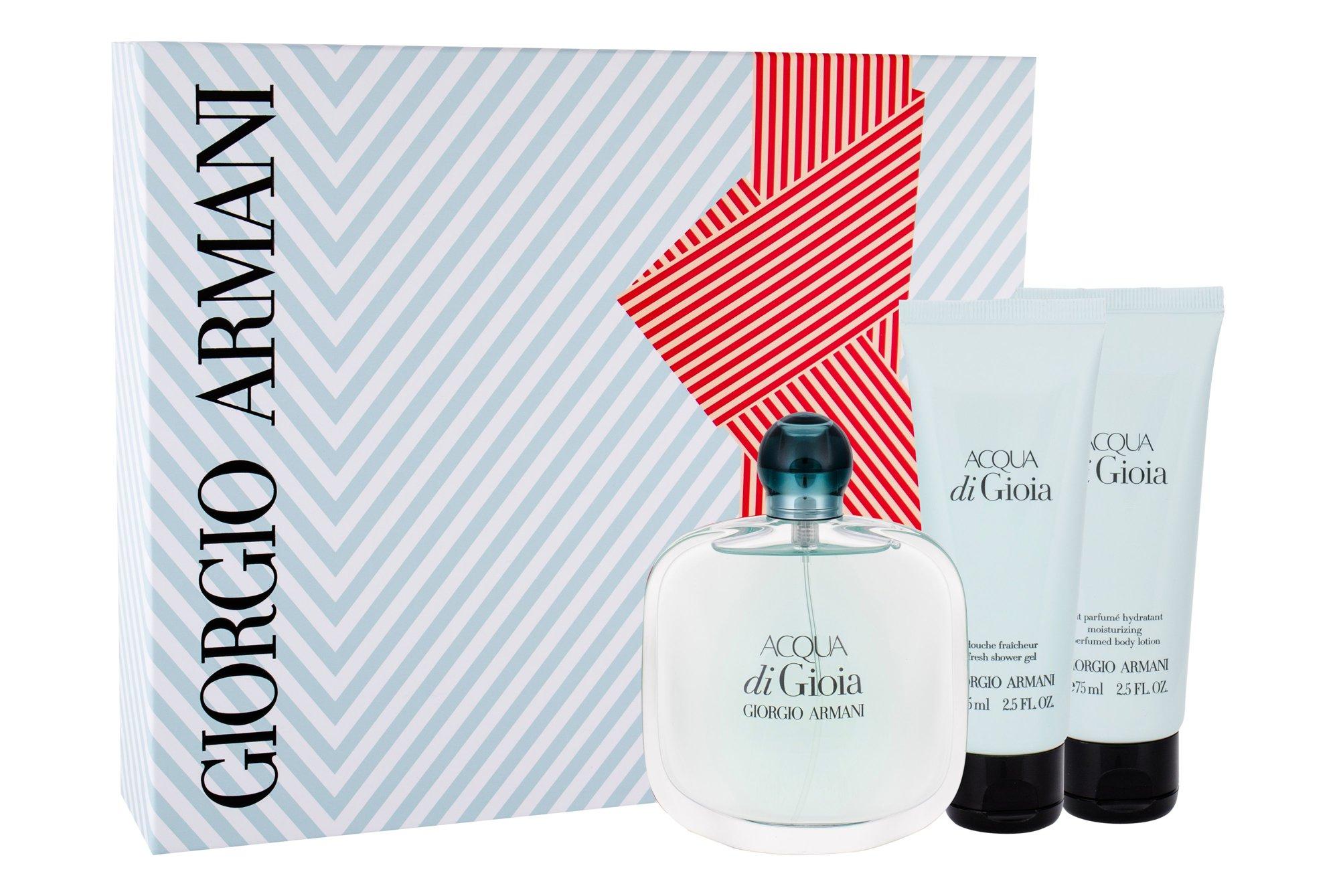 Giorgio Armani Acqua di Gioia, parfumovaná voda 100 ml + telové mlieko 75 ml + sprchovací gél 75 ml