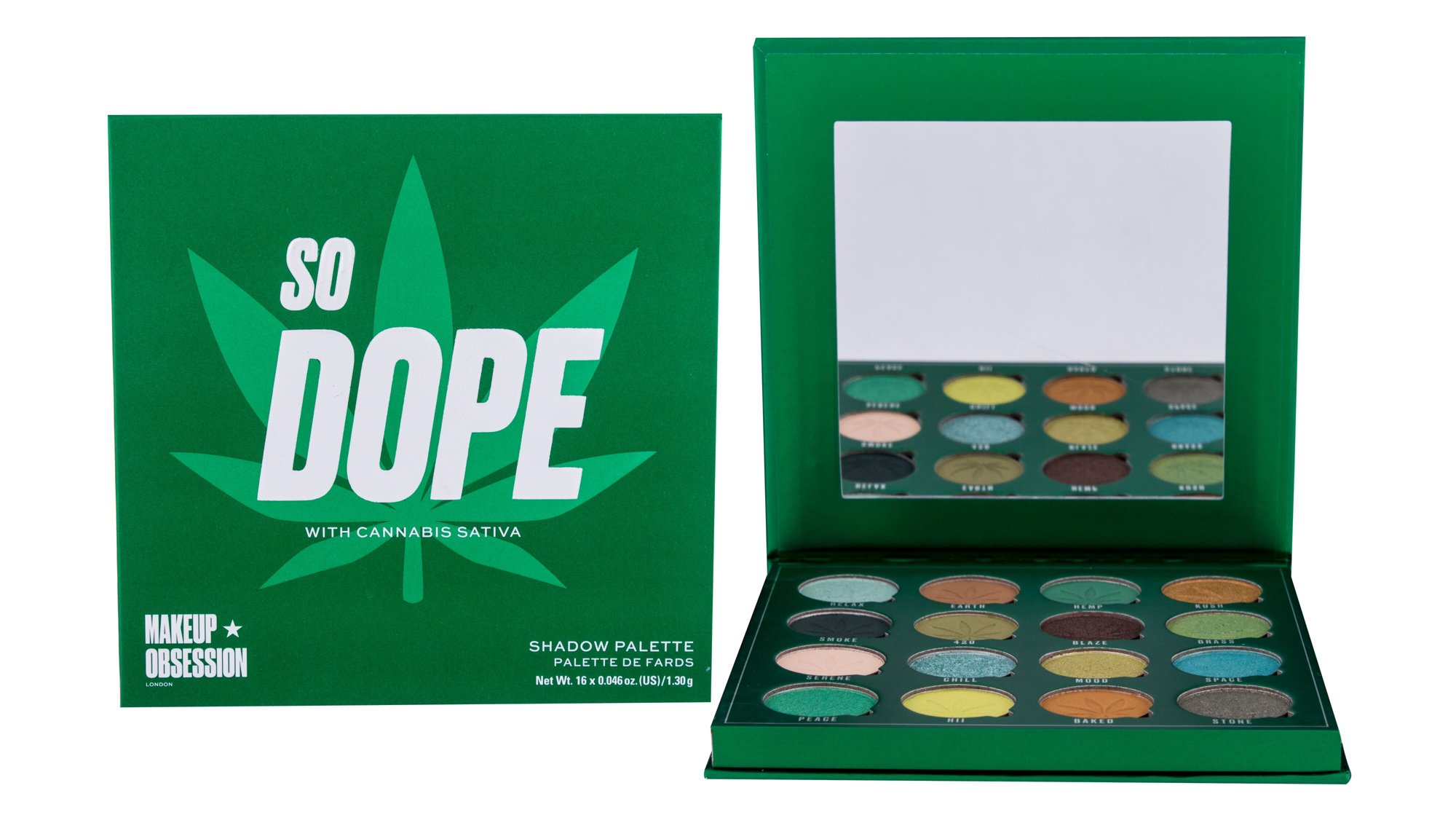 Makeup Obsession So Dope With Cannabis Sativa, Szemhéjpúder 20,8g