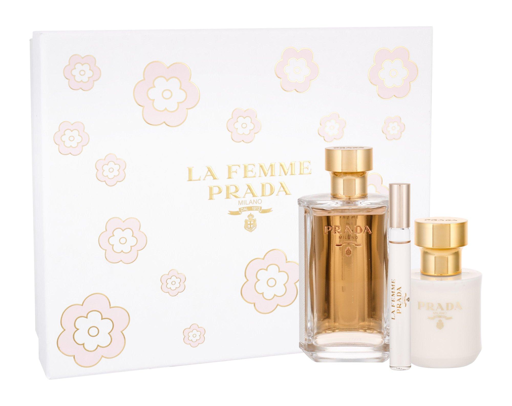 Prada La Femme, parfumovaná voda 100 ml + parfumovaná voda 10 ml + telové mlieko 100 ml