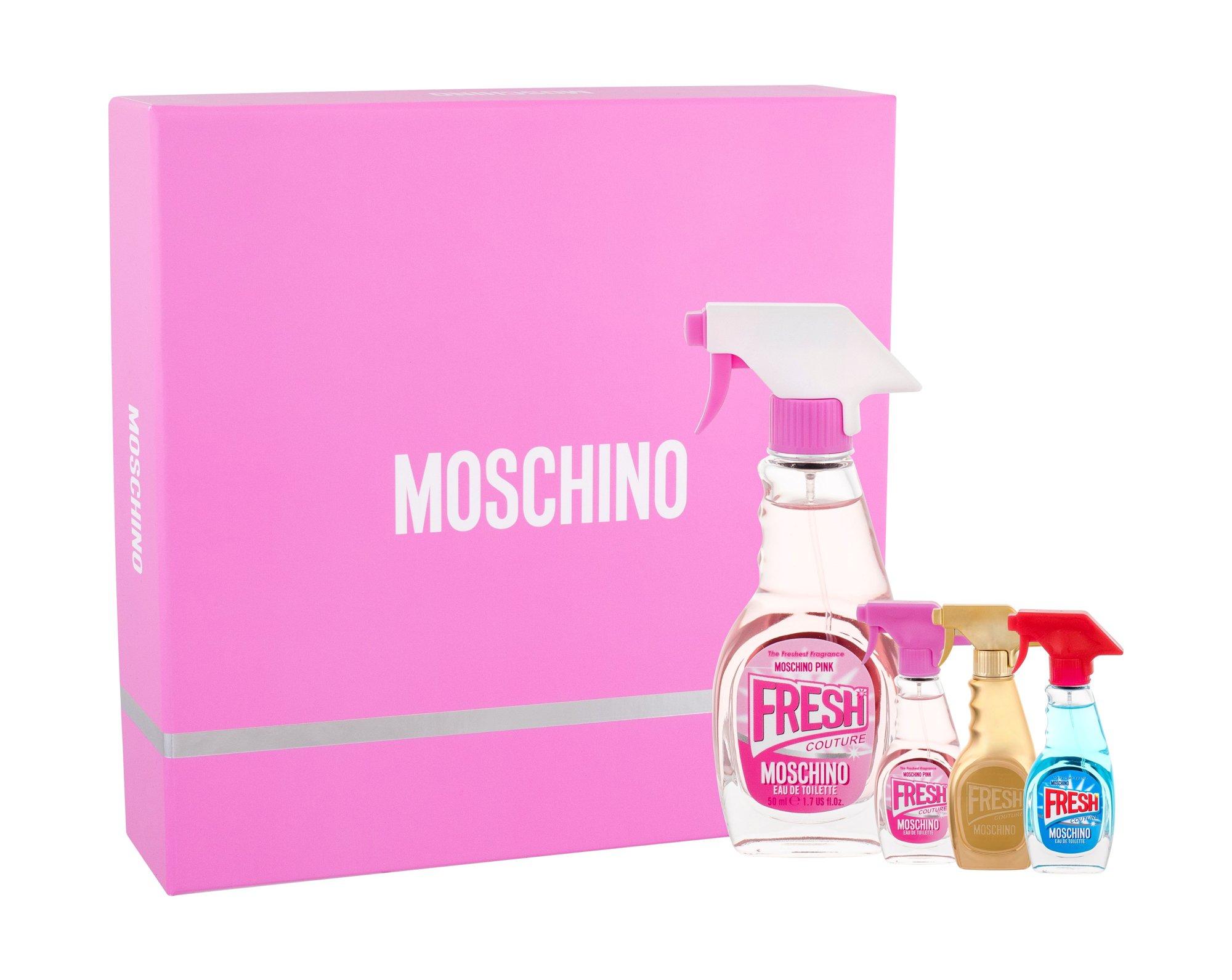 Moschino Fresh Couture Pink, Toaletní voda 50 ml+ Toaletní voda 5 ml + Toaletní voda Fresh Couture 5 ml + parfumovaná voda Fresh Couture Gold 5 ml