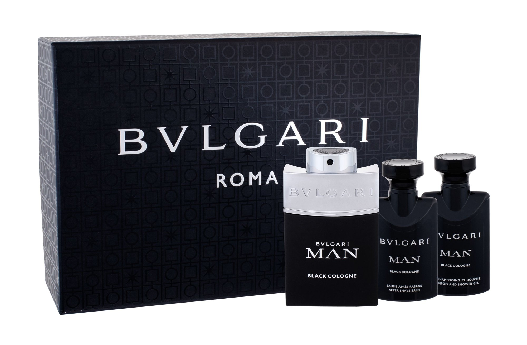 Bvlgari Man Black Cologne, toaletná voda 60 ml + balzam po holení 40 ml + sprchovací gél 40 ml